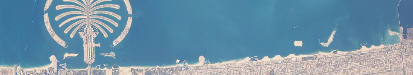 Dubai Geography Map on