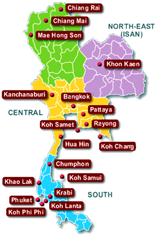 Thailand Map Map of Thailand Thailand Tourist Map